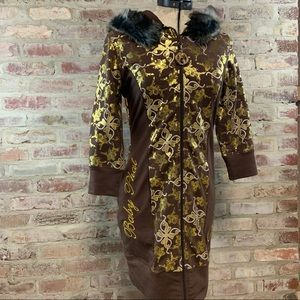 Baby Phat zip up hooded dress NWT